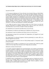 accord de pretoria sur le processus de paix en rci