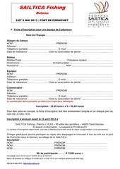 fiche inscription sailtica fishing bateau