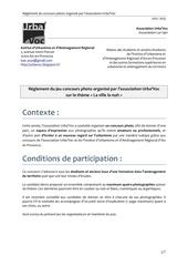 reglement inscription concours photos urba voc