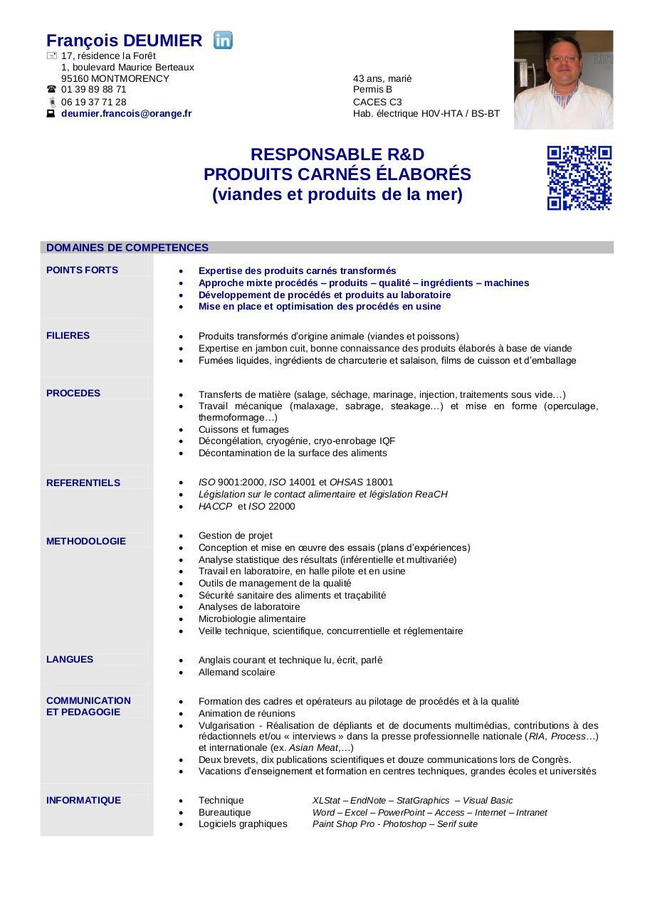 fran u00e7ois deumier par perso - 2013-02-06 - cv pdf