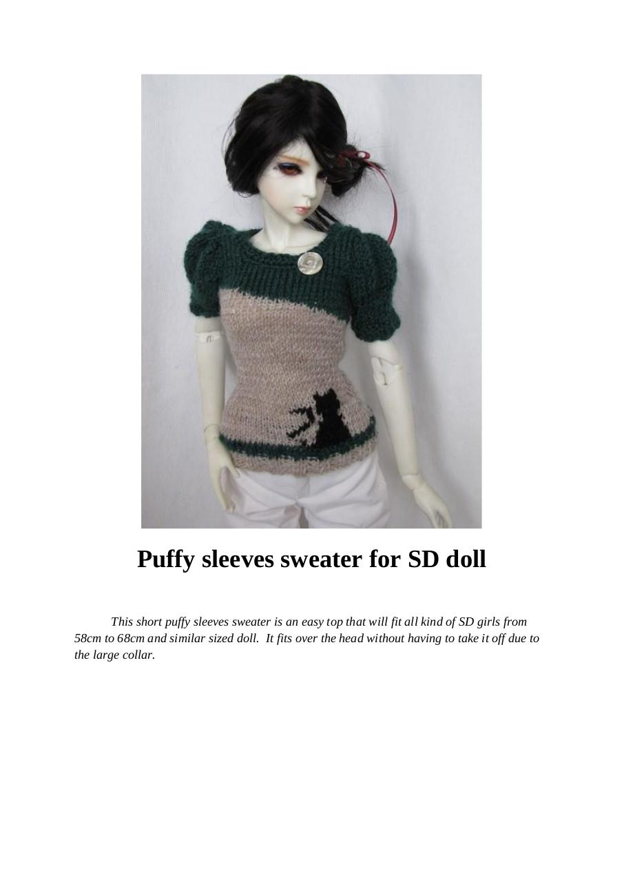 Puffy sleeves sweater for SD doll.pdf - page 1/7