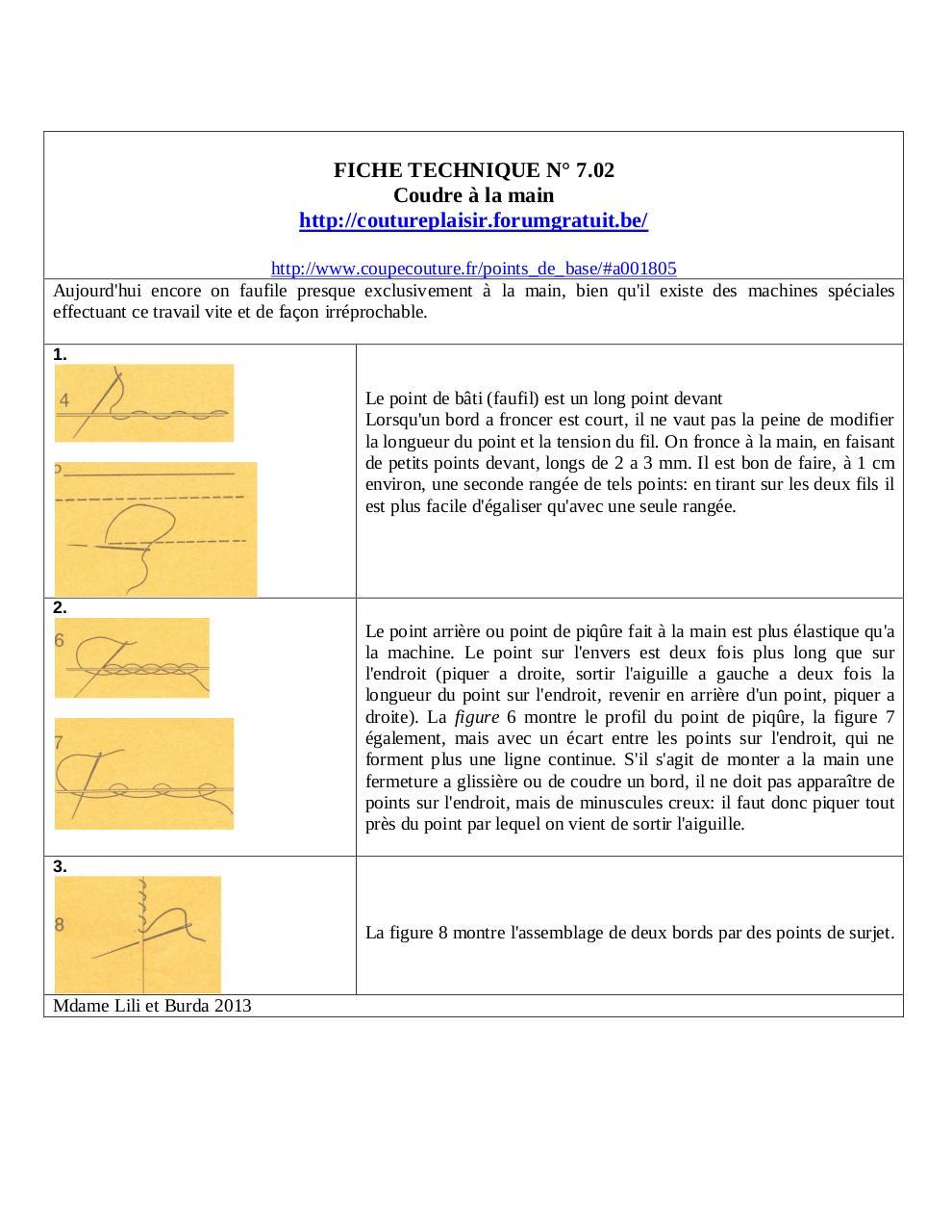 fiche technique n 6 coudre la main pdf fichier pdf. Black Bedroom Furniture Sets. Home Design Ideas