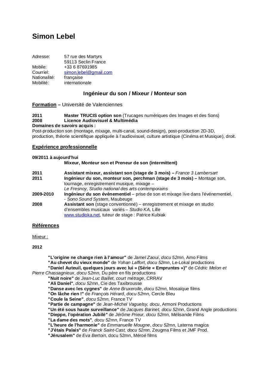 cv simon lebel pdf par simon