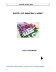Fichier PDF 5sitespourgagnerdelargent complet