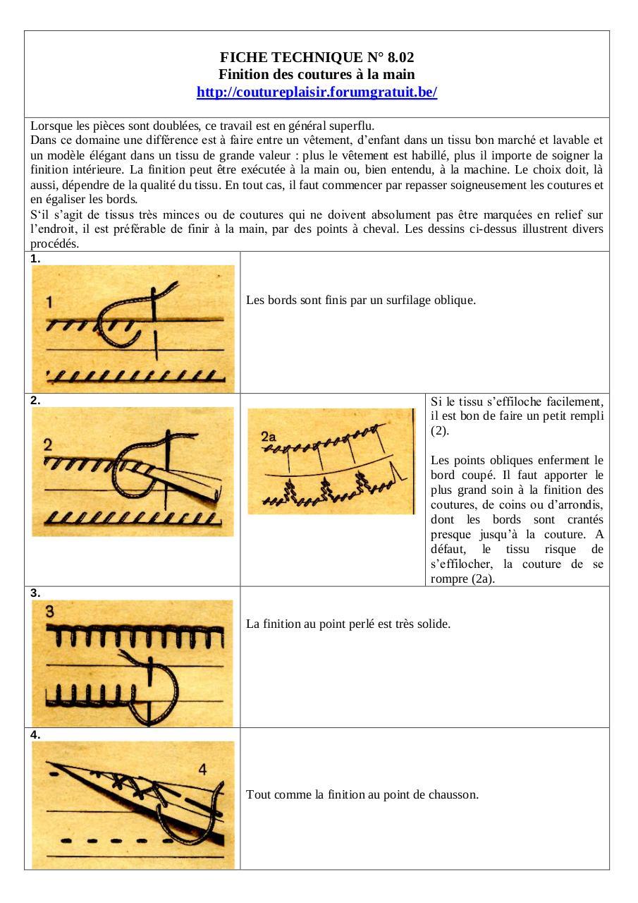 finition des coutures la main par lili fichier pdf. Black Bedroom Furniture Sets. Home Design Ideas