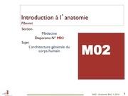 anatomie dias 2 architecture generale du corps humain
