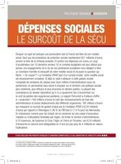 sc 130 dossier depenses sociales surcout secu