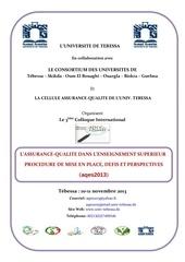 a 3eme colloque assurance qualittebessa 2013