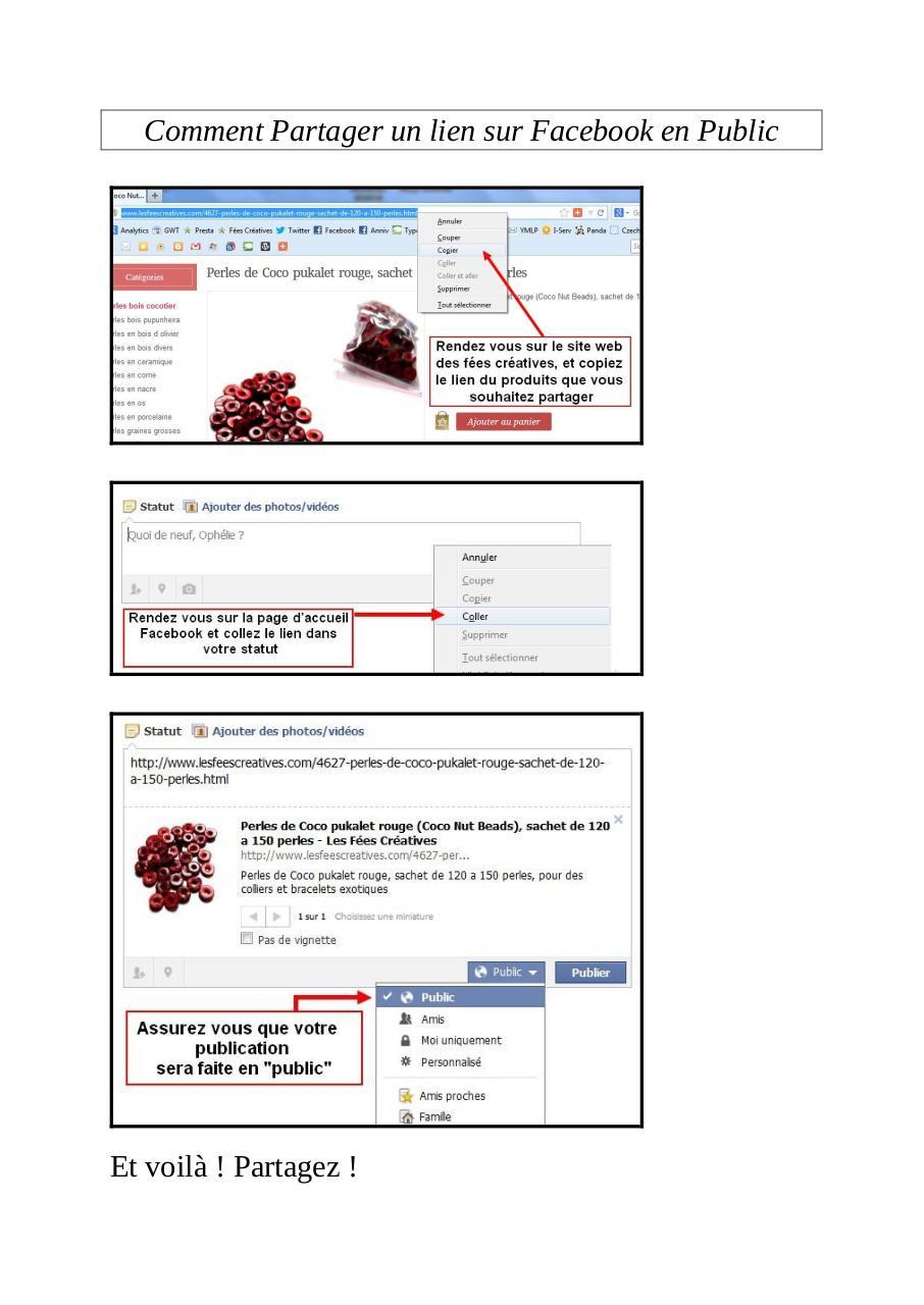 comment partager un lien sur facebook en public par lesf u00e9es