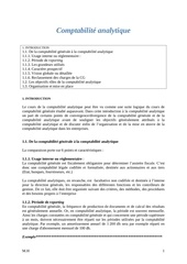 Fichier PDF comptabilit analytique