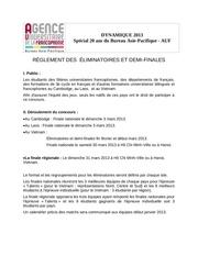 Fichier PDF dynamique 2013 reglements
