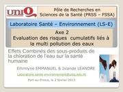 effets combines des sous produits de la chloration