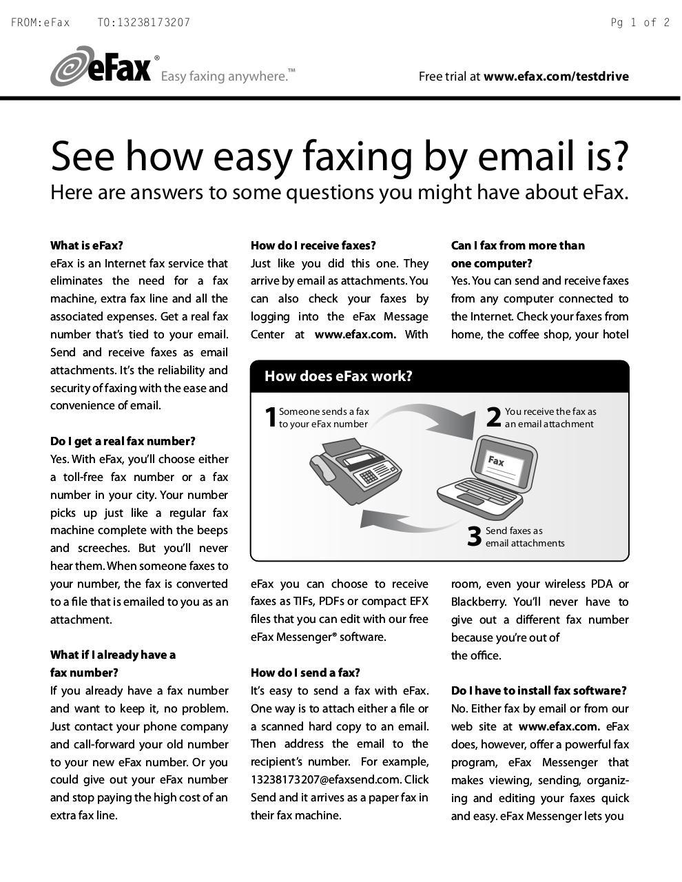 efax messenger software free download