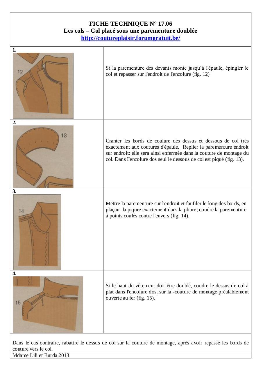 comment coudre une parmenture de col