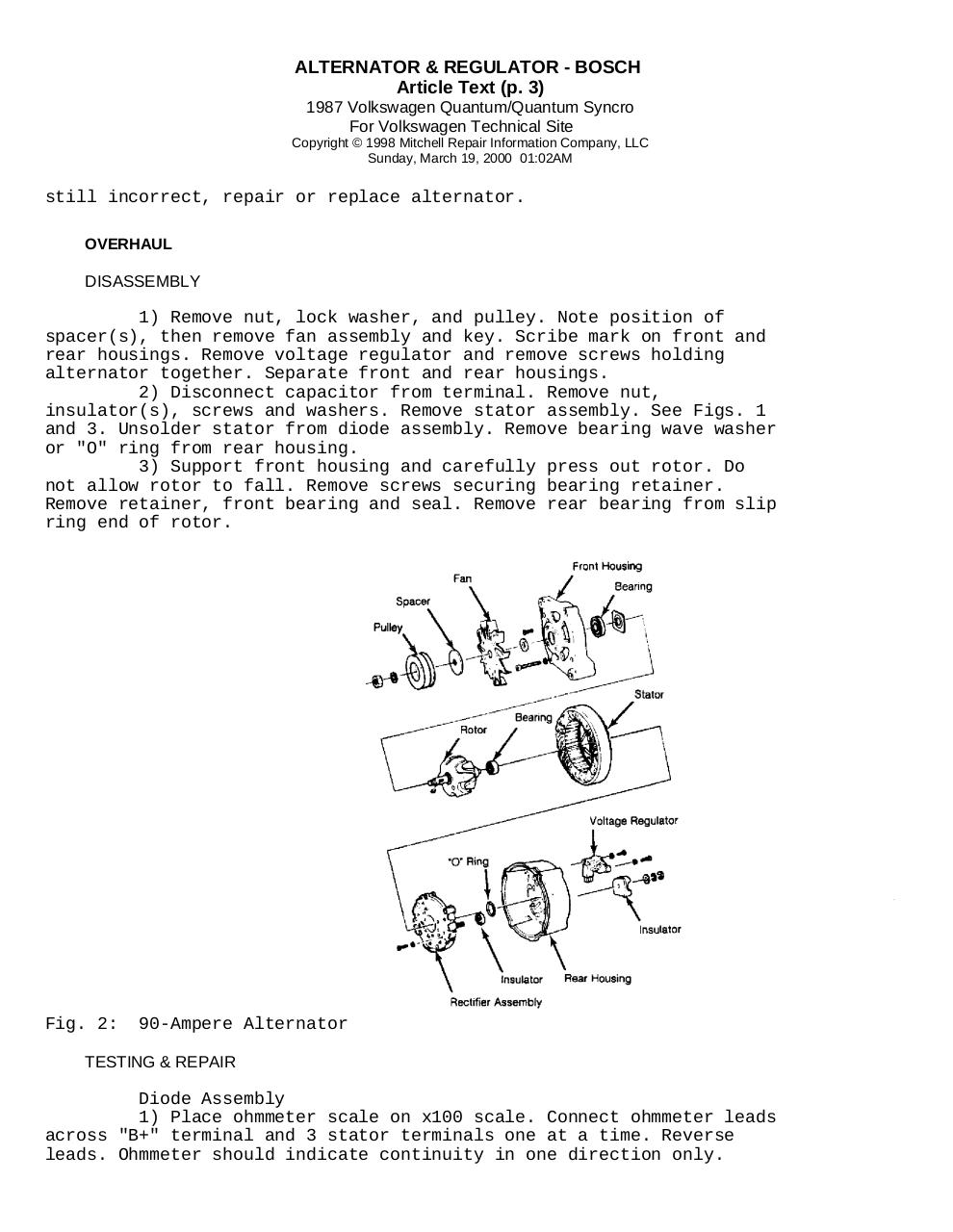Alternator & Regulator Bosch - Fichier PDF