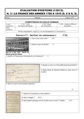 evaluation h3 janvier 2013