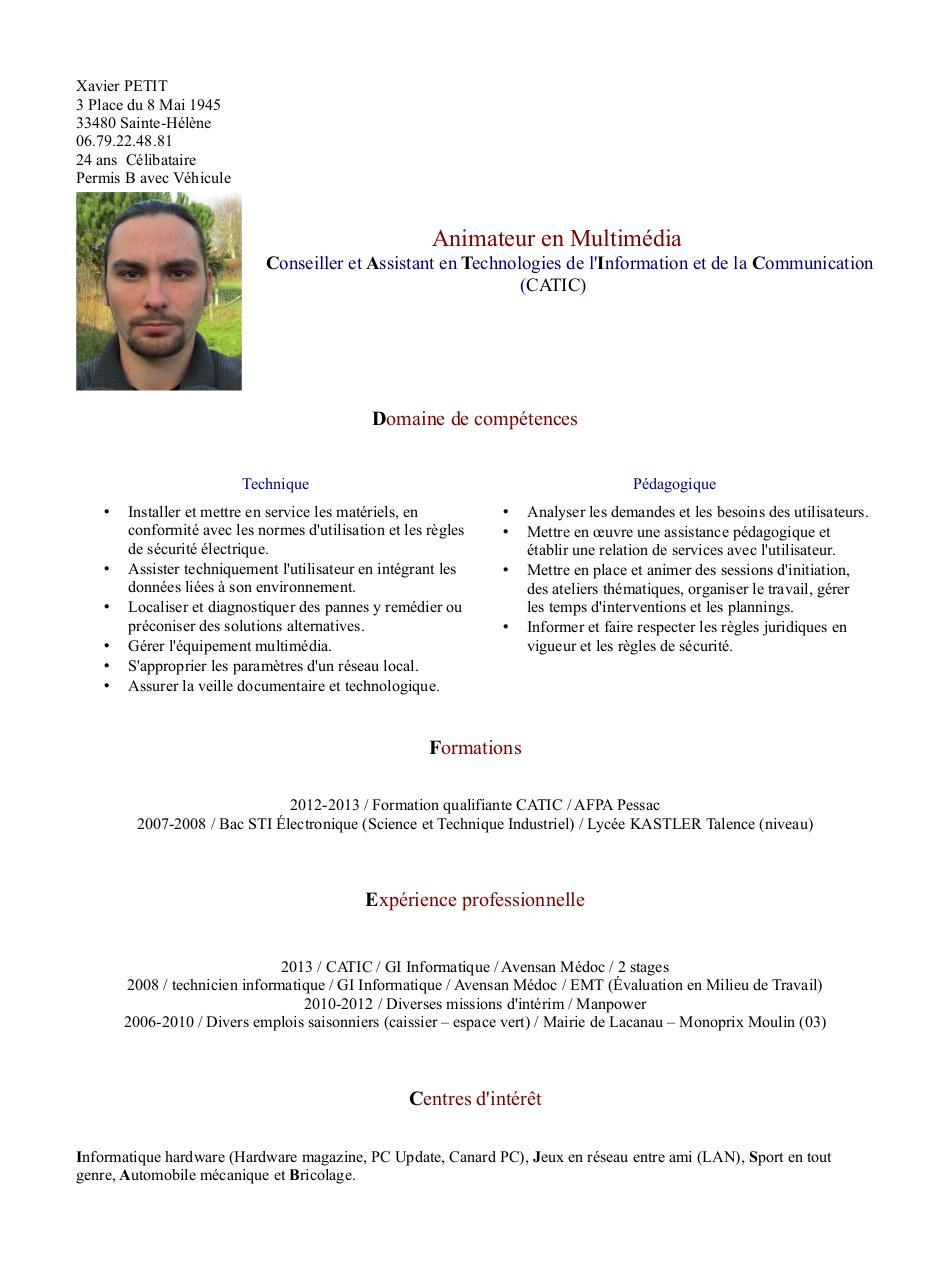 Aperçu du document CV Final 3.1.pdf - page 1/1