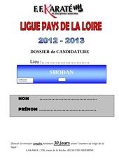dossier de candidature shodan 2012 2013