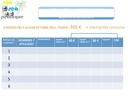formulaire reservation appmt concours international 3 es