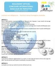 reglement concours international masculin fr 2013