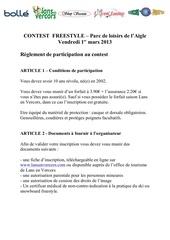 Fichier PDF reglement contest freestyle a l aigle