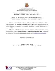 edital mestrado uepa 2013
