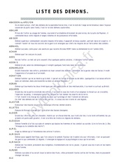 Fichier PDF liste demons