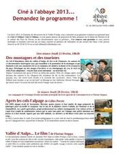 programme cine a l abbaye 2013