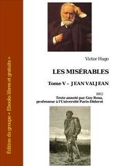 victor hugo les miserables tome v jean valjean 1