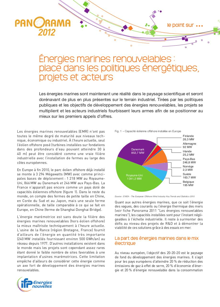 Panorama2012_08-VF_Energies-Marines-Renouvelables.pdf - page 1/5