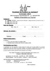tournoi 2013 fiche d inscription et reglement