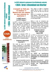 tract paiement dividende salarial 2013 annonce fevrier 2013