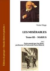 victor hugo les miserables tome iii marius