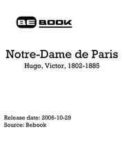 hugo victor 1802 1885 notre dame de paris