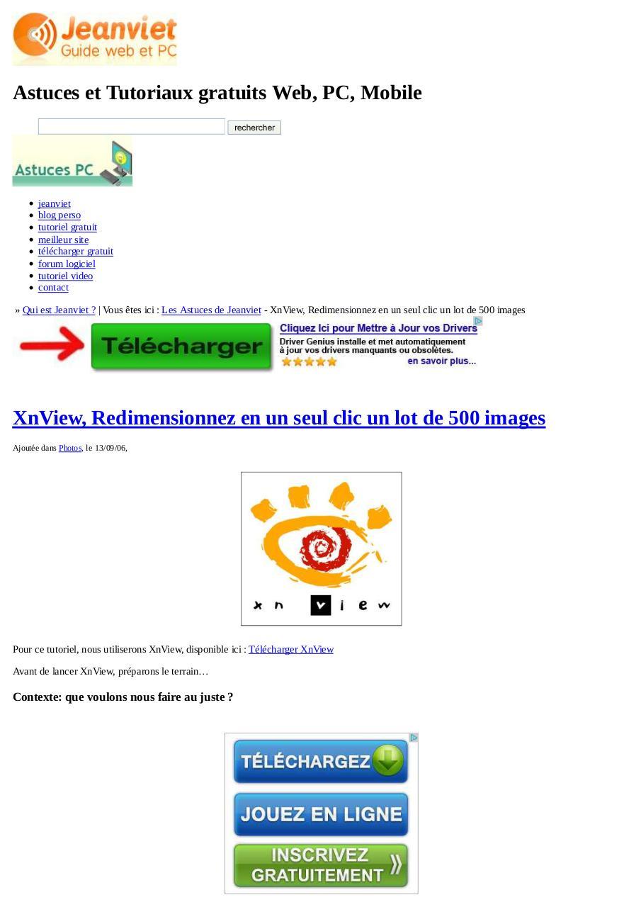 xnview  redimensionnez en un seul clic un lot de 500 images tuto par marien