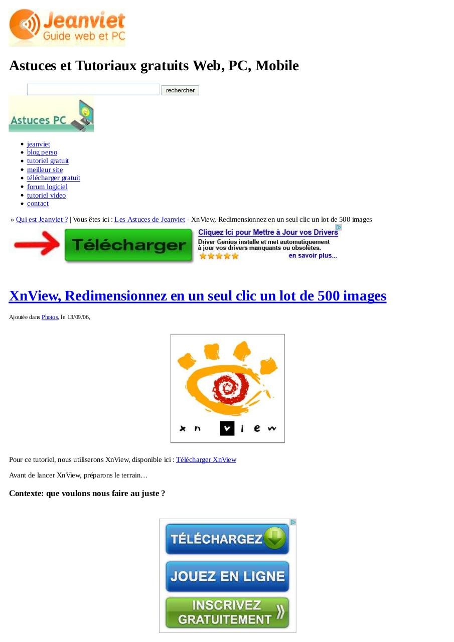 xnview  redimensionnez en un seul clic un lot de 500