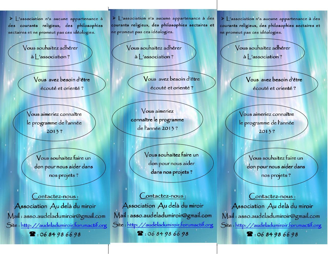 Par 10077126 fly asso au del du for Au dela du miroir