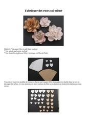 fleur avec coeur filtre cafe