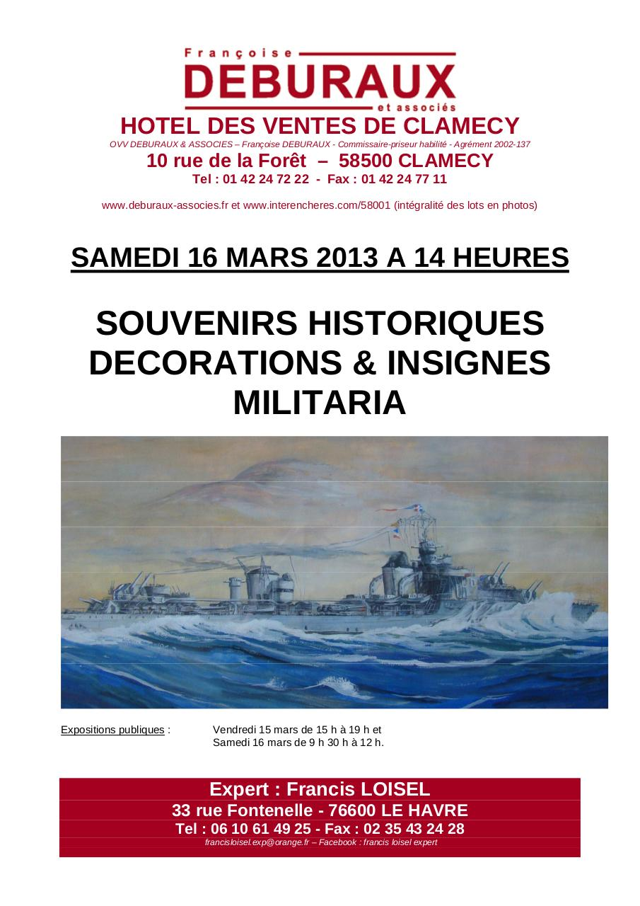 FRANCIS LOISEL EXPERT VENTE CLAMECY 16 MARS 2013.pdf - page 1/16
