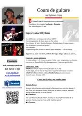 Fichier PDF cours de guitare