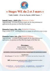 stages we 2 3 mars vacances hiver
