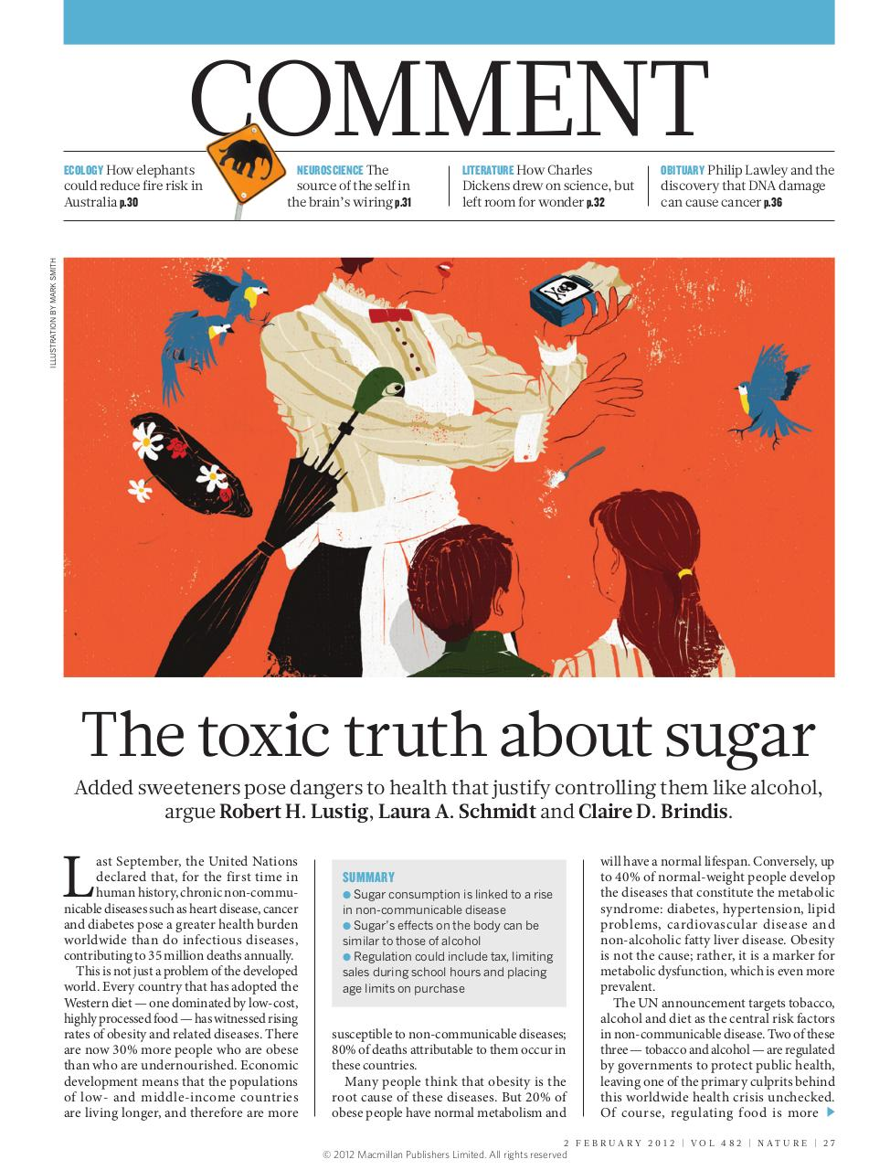 Lustig 2012 The toxic truth about sugar.pdf - page 1/3