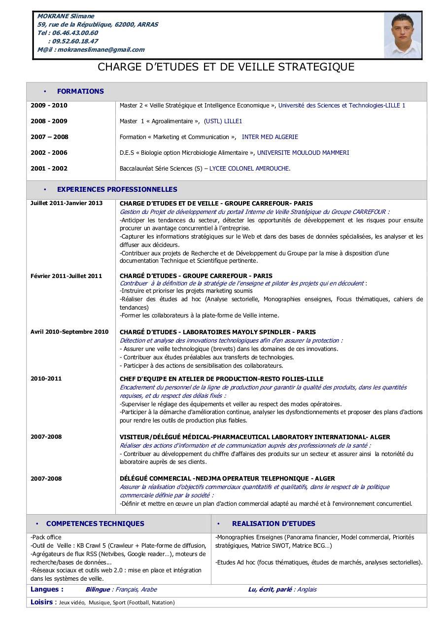 mokrane slimane cv par belkessam - mokrane slimane cv pdf