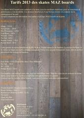 Fichier PDF tarifs 2013 skates mazboards
