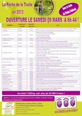 calendrier truites 2013