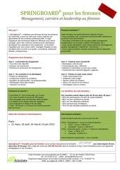 speciale paris programme springboard pour les femmes france 2013