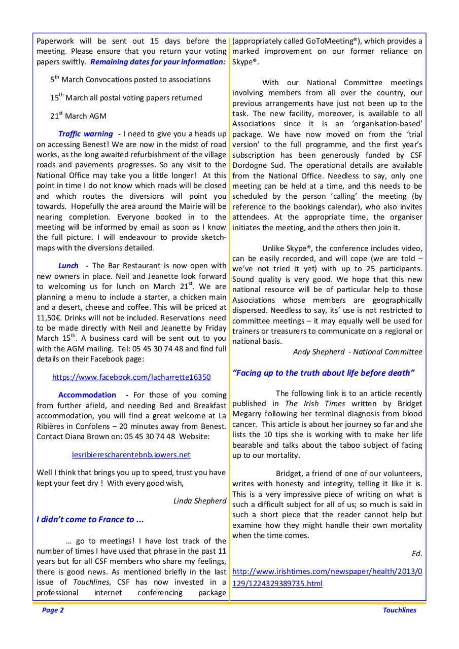 Touchlines March 2013.pdf - page 2/8