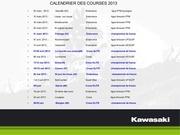 calendrier saison 2013