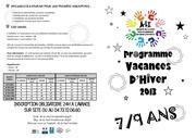 programme vacances hiver 7 9 ans