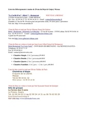 liste 1 des hebergements guipry messac